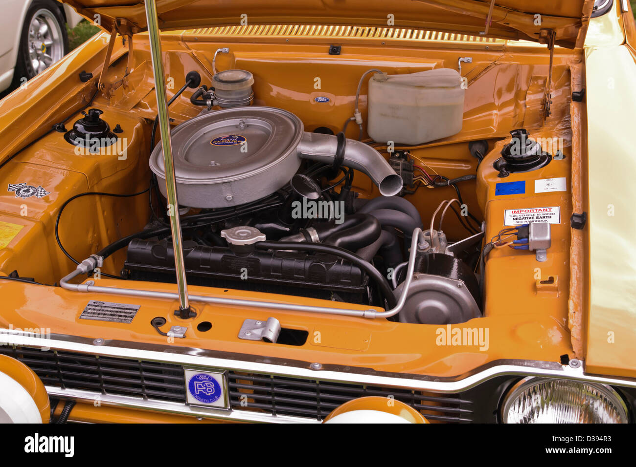 Ford Escort rs Mk1 Mexico engine 1599 cc S4 OHV - Stock Image
