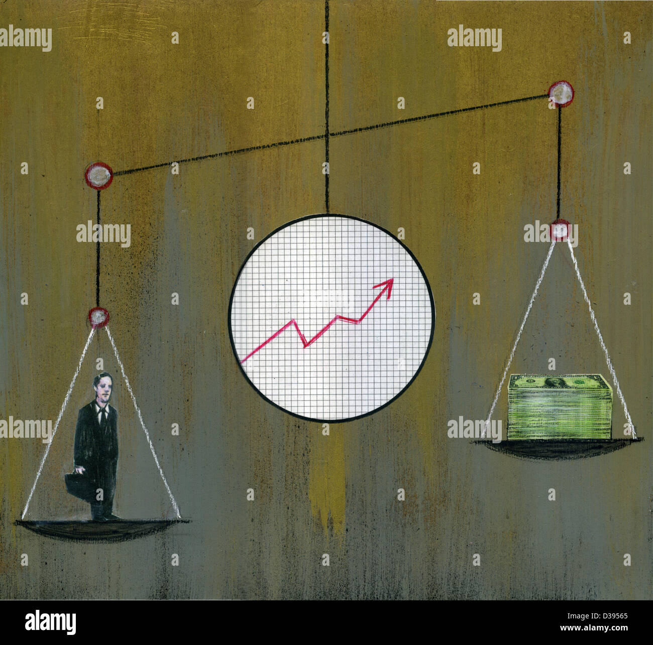 Illustration of inflation - Stock Image