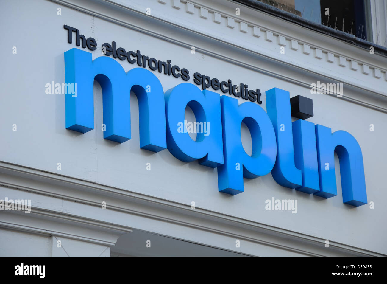 Maplin electronics gadgets and computing store in Glasgow, Scotland, UK - Stock Image
