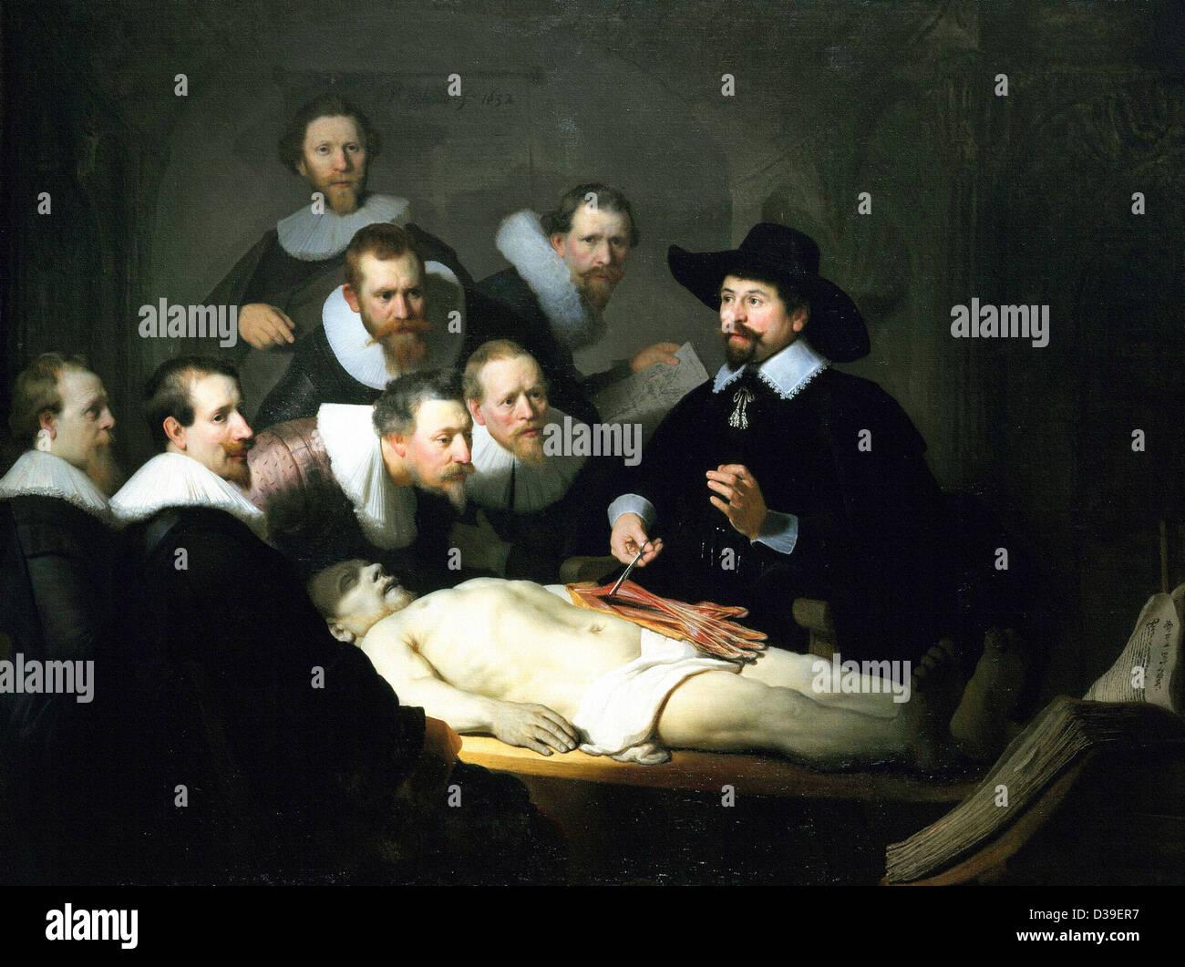 Rembrandt Van Rijn The Anatomy Lesson Of Dr Nicolaes Tulp 1632