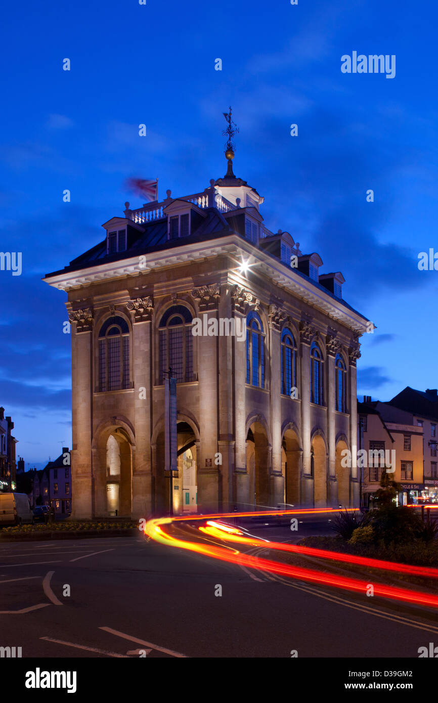 County Hall Museum at night, Abingdon, Oxfordshire, England - Stock Image