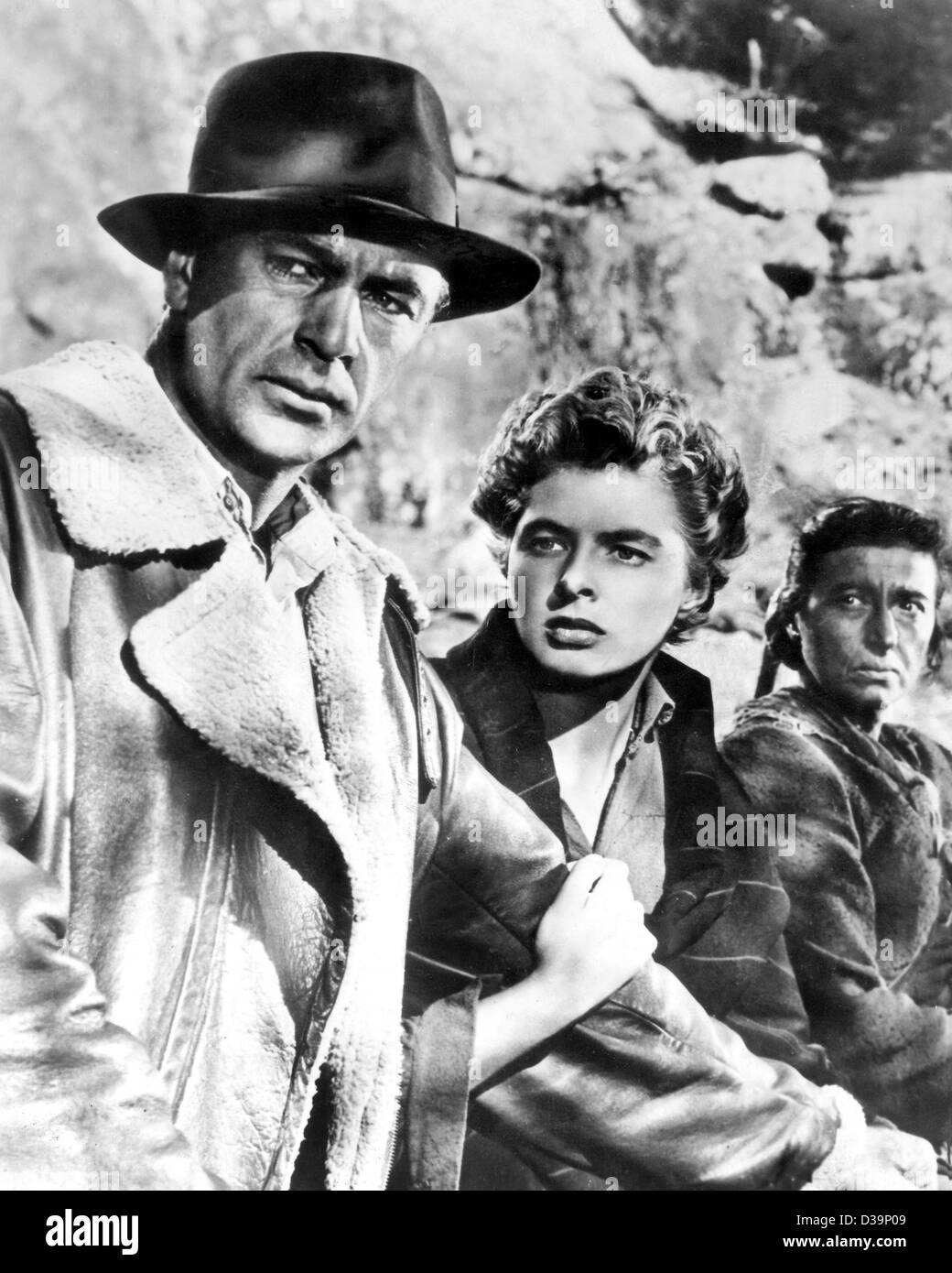 (dpa files) - Ingrid Bergman stars with Gary Cooper in the film 'For Whom the Bell Tolls' (1943). Ingrid - Stock Image