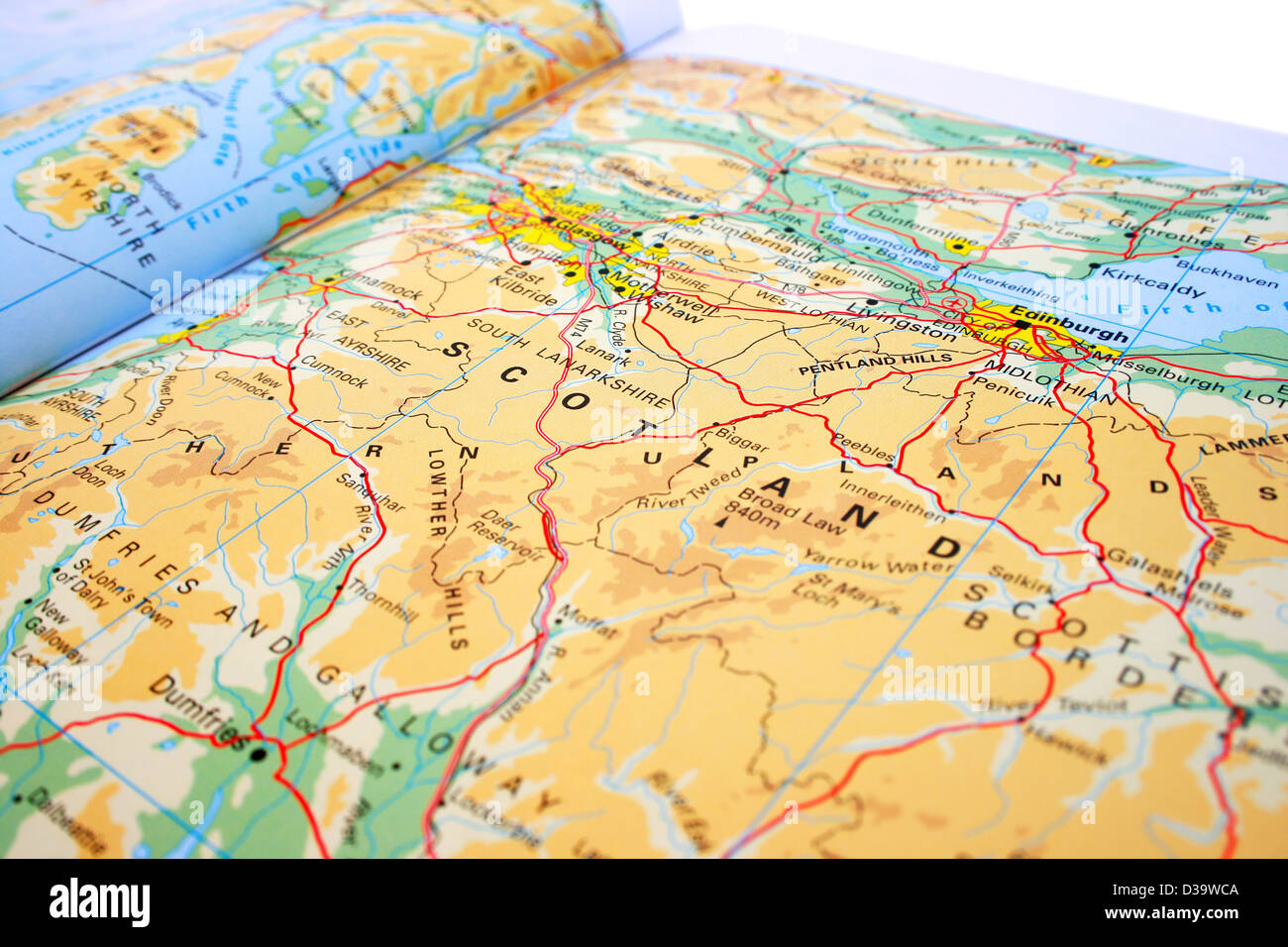 Map Of Uk Mountains And Rivers.United Kingdom Map Mountains Rivers Stock Photo 53692586 Alamy