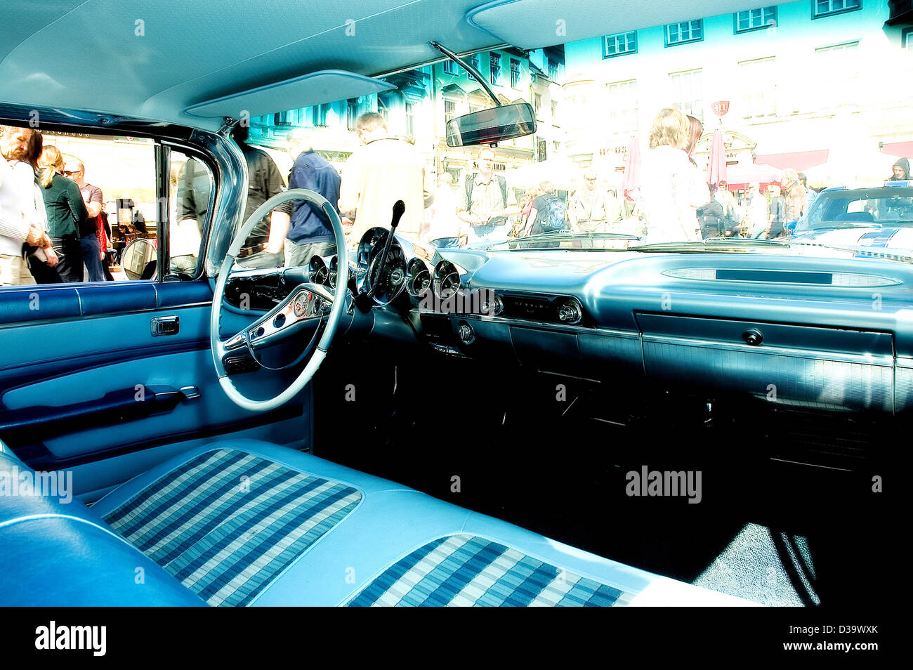 An Interior Of An Old American Muscle Car Stock Photo 53692987 Alamy