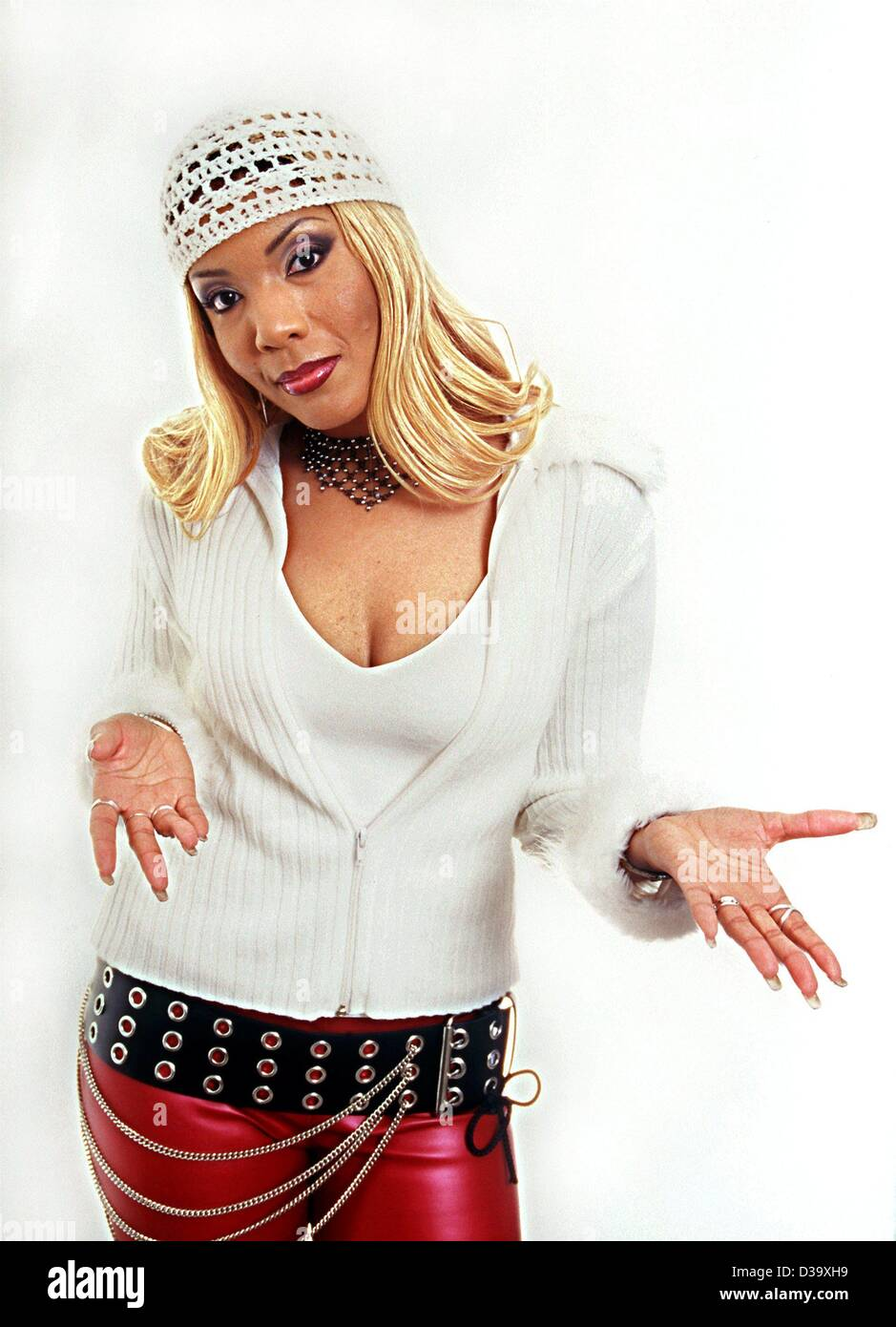 (dpa) - Melanie Thornton, international popstar (picture of 15.11. 2001), was killed in the crash of a Swiss Crossair - Stock Image