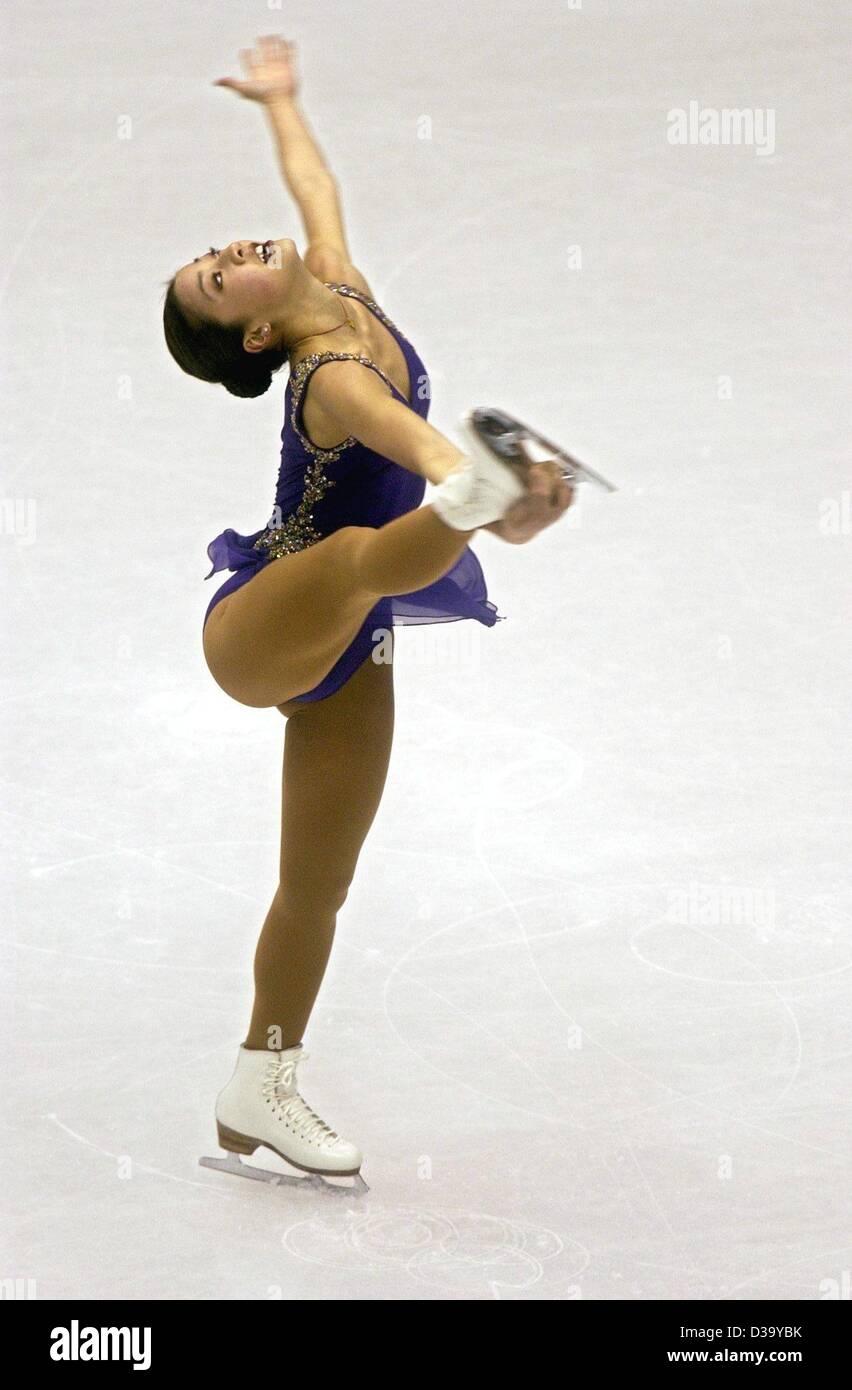 Michelle Kwan aus den USA am 19.2.2002 während ihres Kurzprogramms im Ice Center in Salt Lake City: In nur - Stock Image