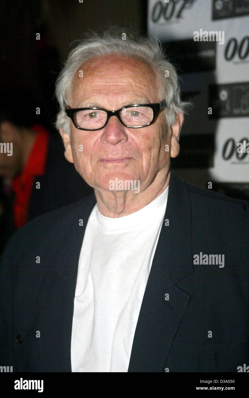 (dpa) - French fashion designer Pierre Cardin pictured in his villa near Cannes, France, 18 May 2002. - Stock Image