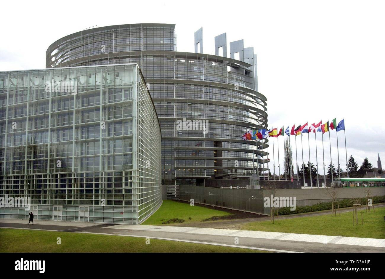 (dpa) - The building of the European Parliament in Strasbourg, 10 February 2002. Stock Photo
