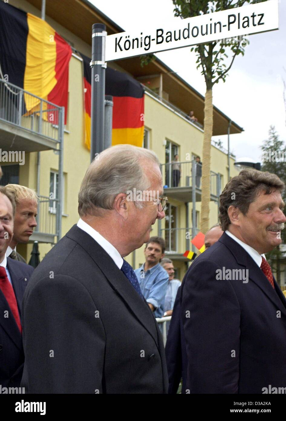 (dpa) - Belgian King Albert II, pictured at the inauguration of the Koenig-Baudouin-Platz (King Baudouin Square) - Stock Image
