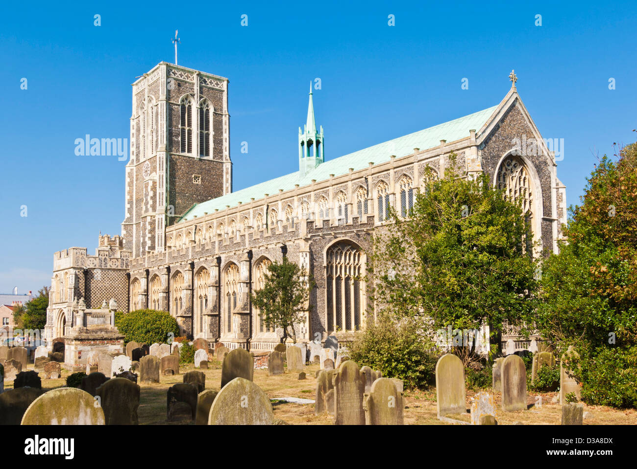 St. Edmund King and Martyr church, and graveyard, Bartholomews Green Southwold, East Anglia, Suffolk, GB, UK, EU, - Stock Image