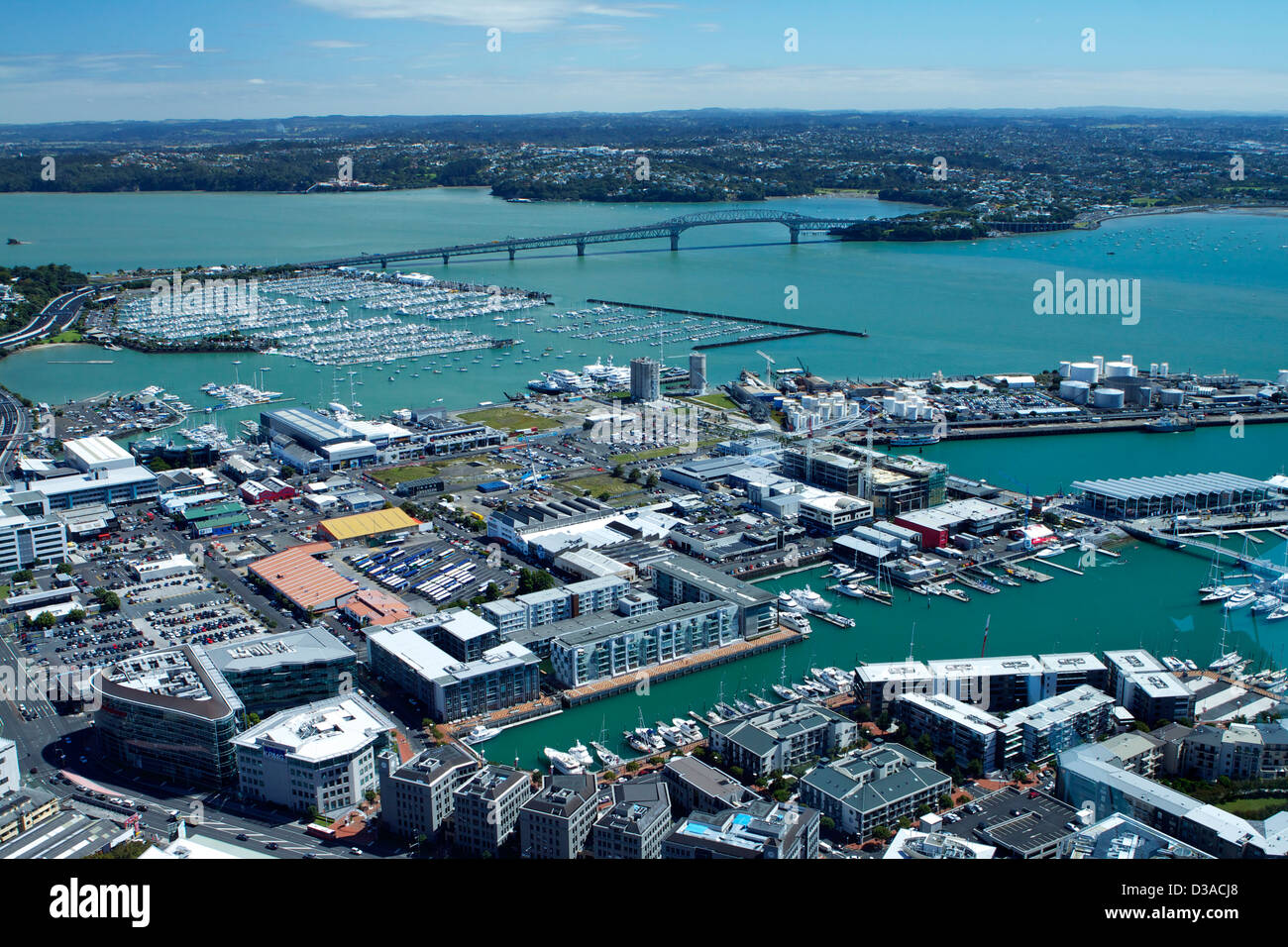 Auckland North Island New Zealand travel tourism - Stock Image