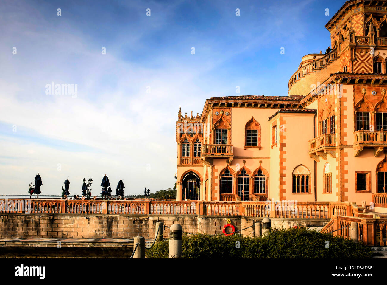 The Ca d' Zan Mansion in Sarasota FL. Home of John and Mabel Ringling. Stock Photo