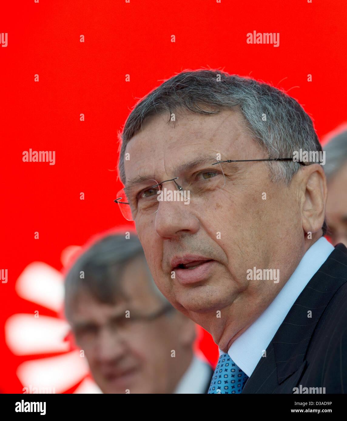 Giuseppe Orsi, chief executive of Italian aerospace and defence firm Finmeccanica Stock Photo