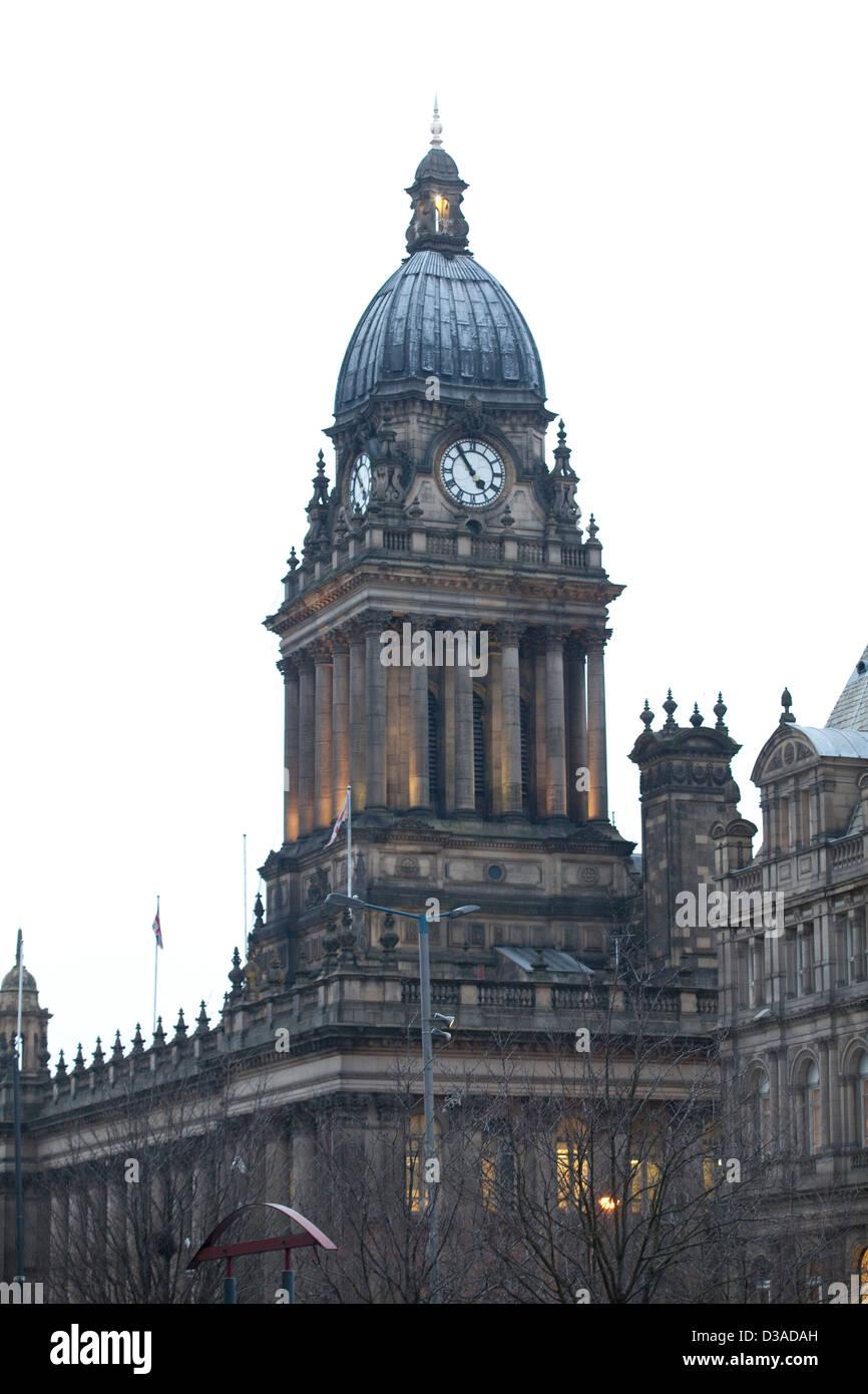 Leeds Town Hall - Stock Image