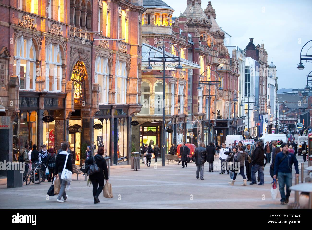 Leeds , West Yorkshire - City Centre Shopping - - Stock Image