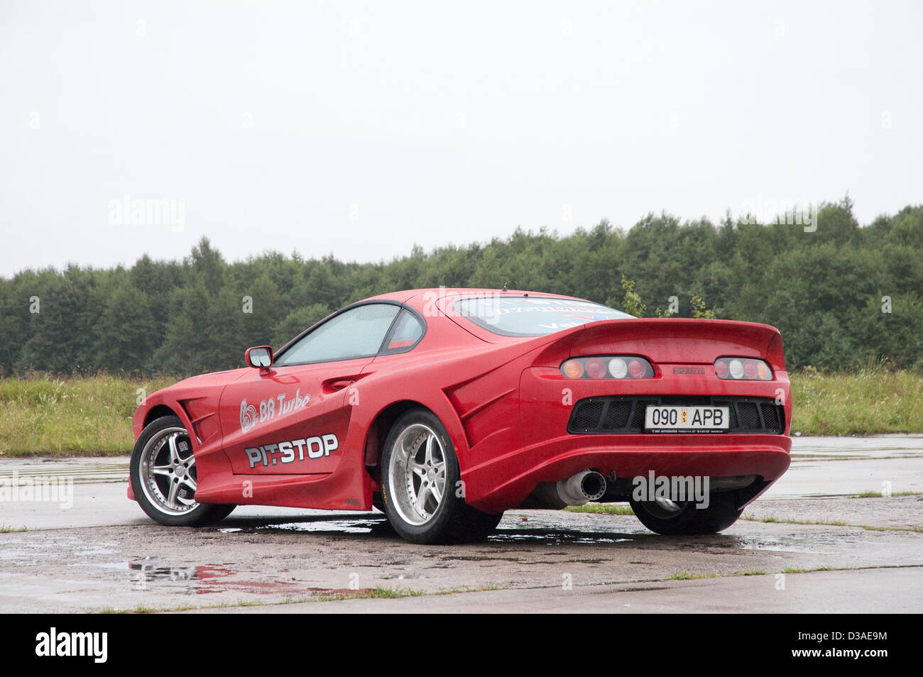 Red Tuned Toyota Supra In The Field Stock Photo 53705840 Alamy
