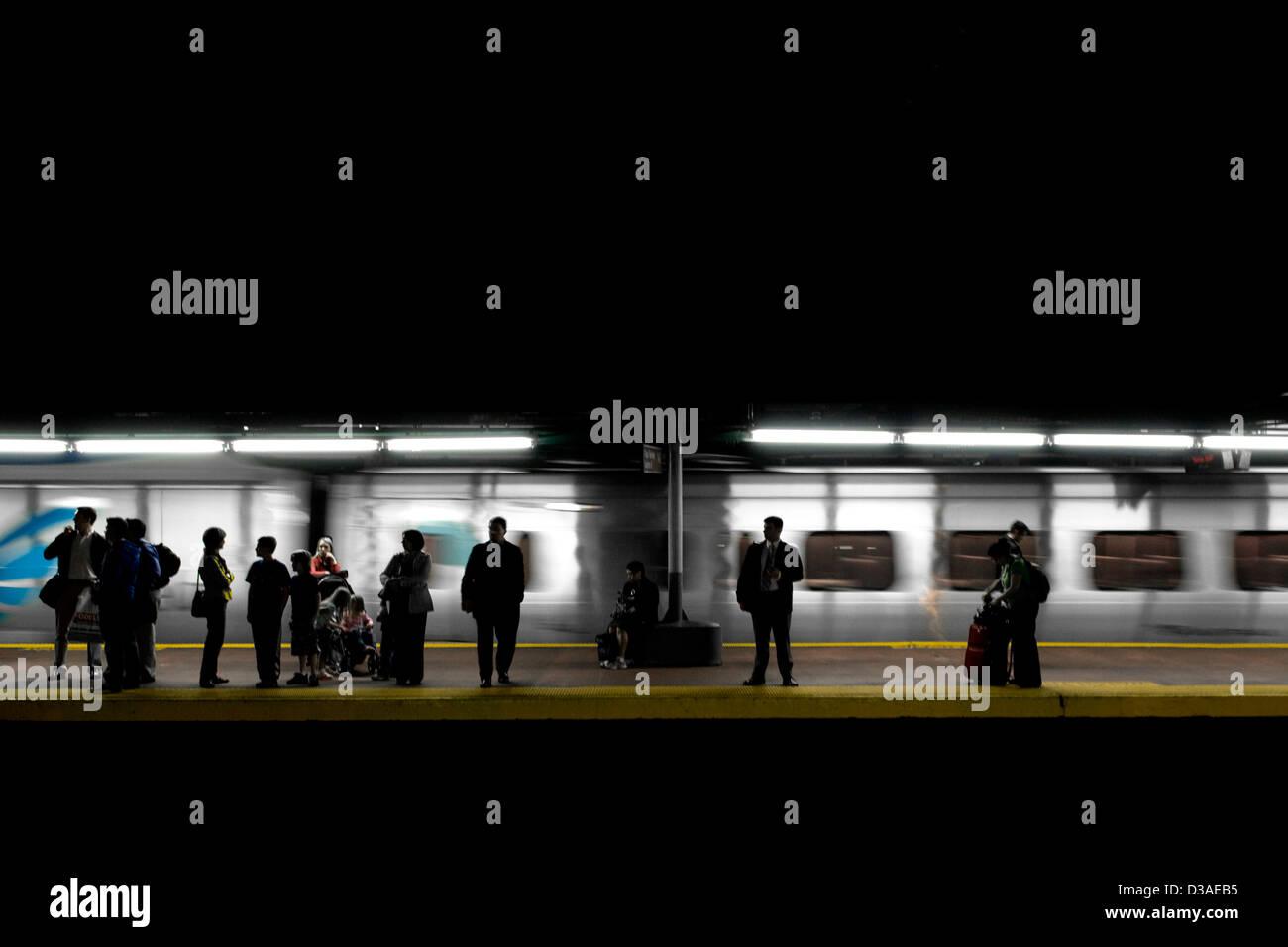 Subterranean commuters. - Stock Image