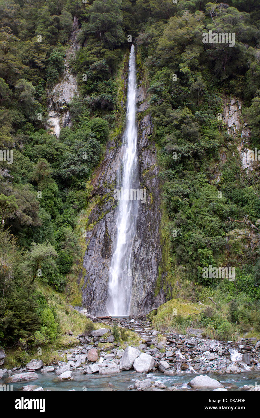 Haast Pass South Isl New Zealand travel tourism - Stock Image
