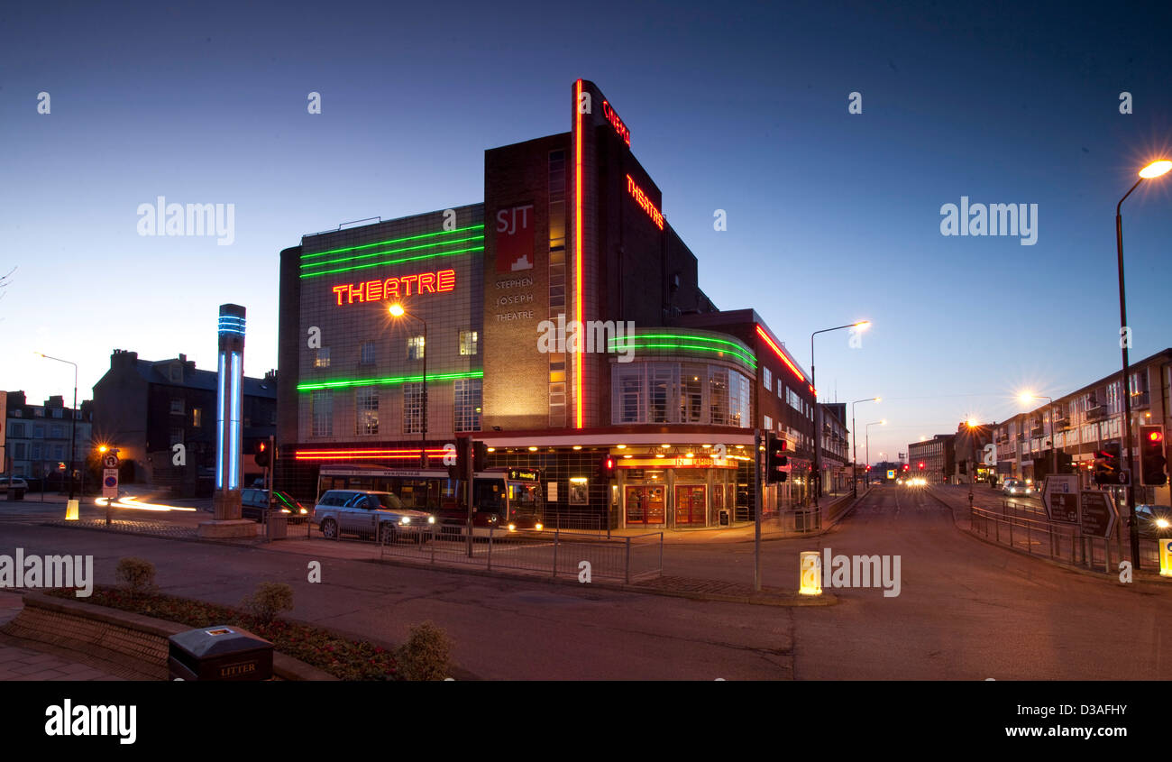 The Stephen Joseph Theatre is a theatre in the round in Scarborough, North Yorkshire, England - Stock Image