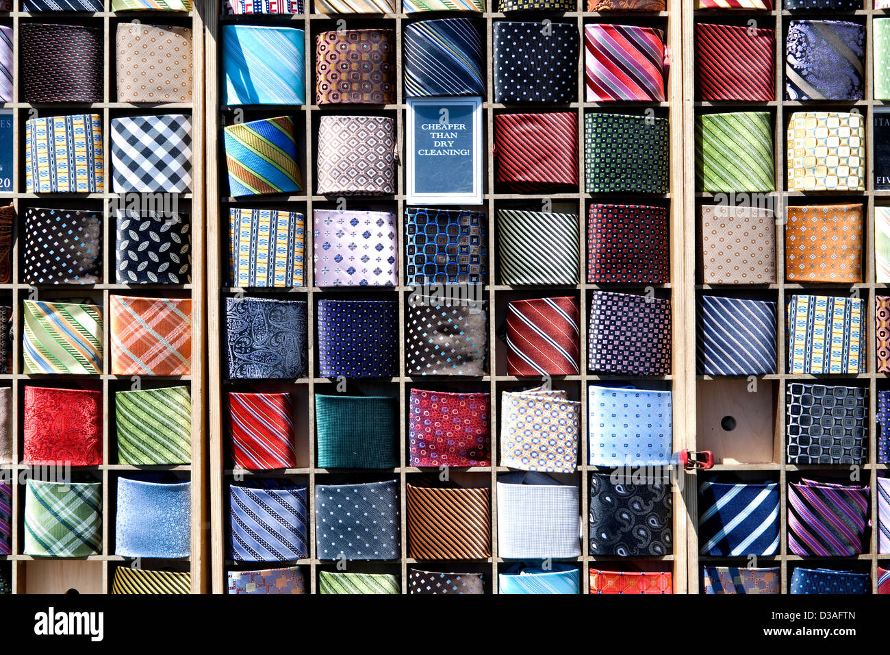 Ties for sale. - Stock Image
