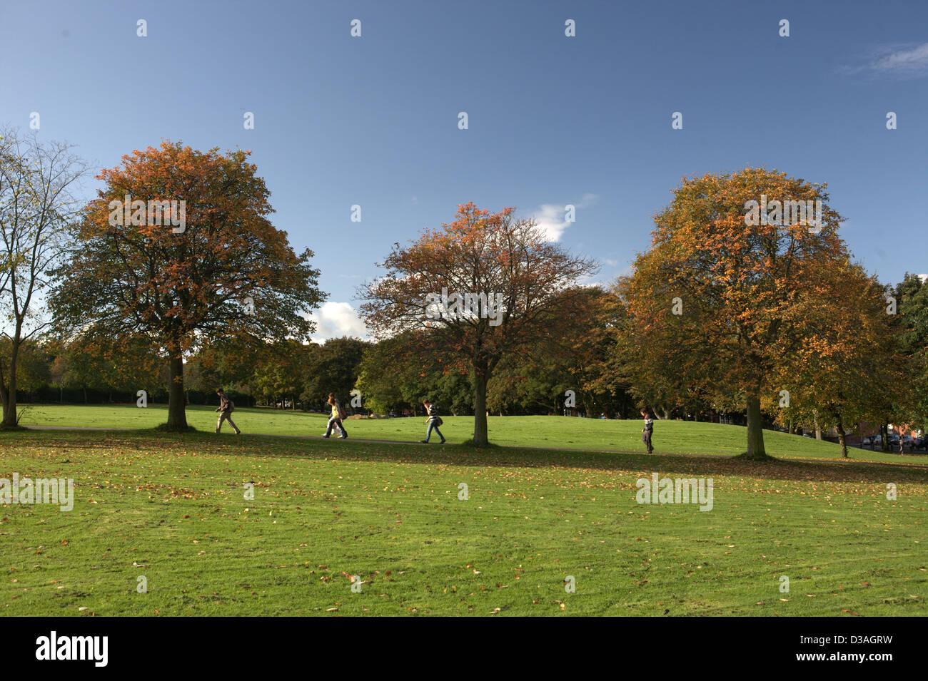 Woodhouse Moor  , Leeds near the University - Hyde Park Stock Photo