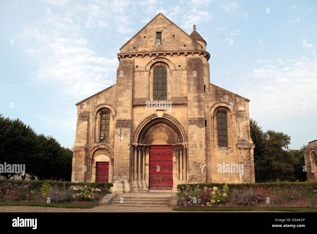 The Eglise St Pierre & St Protais (The church of Saint-Pierre or St Peter) in Soissons, Aisne, France. - Stock Image