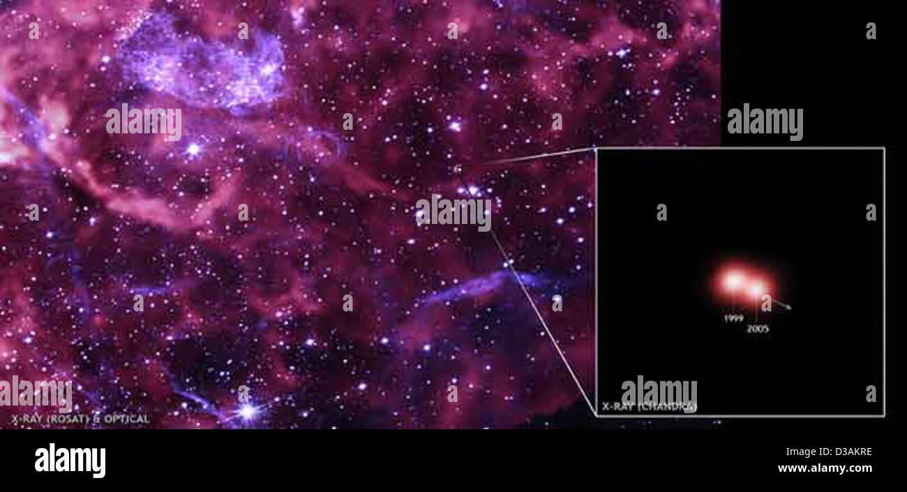 A Cosmic Cannonball (NASA, Chandra, 11/28/07) - Stock Image