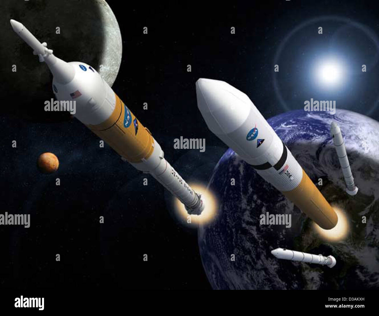 Ares Rockets Collage (February, 2008) - Stock Image