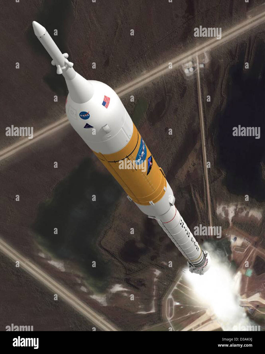 Ares Rocket Collage (February 2008) - Stock Image