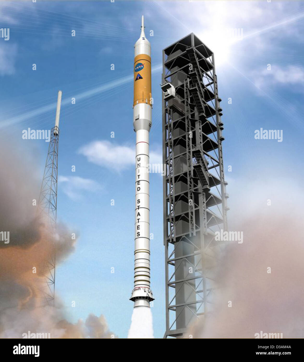 Artist Concept: Ares I Rocket Launch (Sept. 10, 2008) - Stock Image