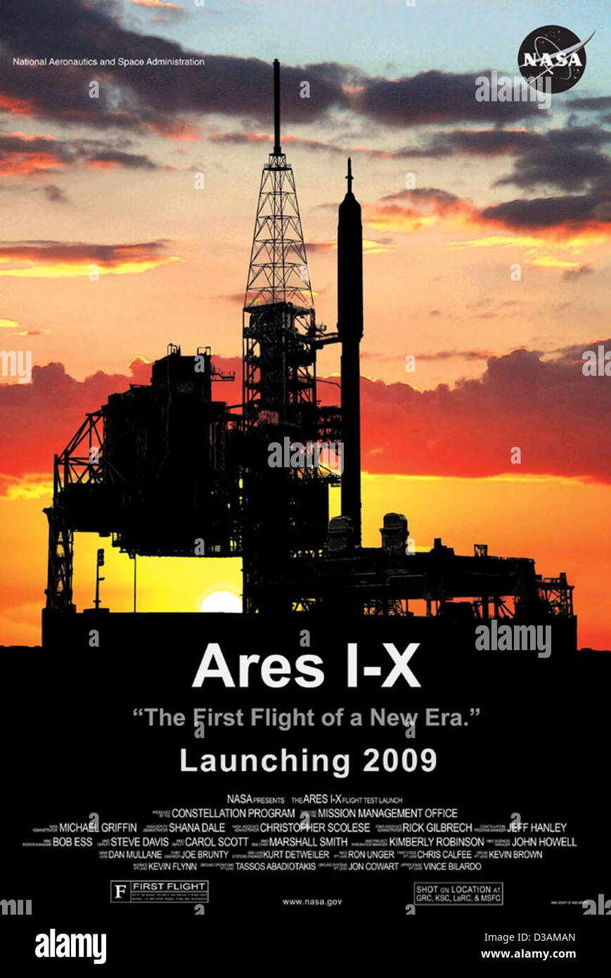Ares I-X Movie Poster - Stock Image