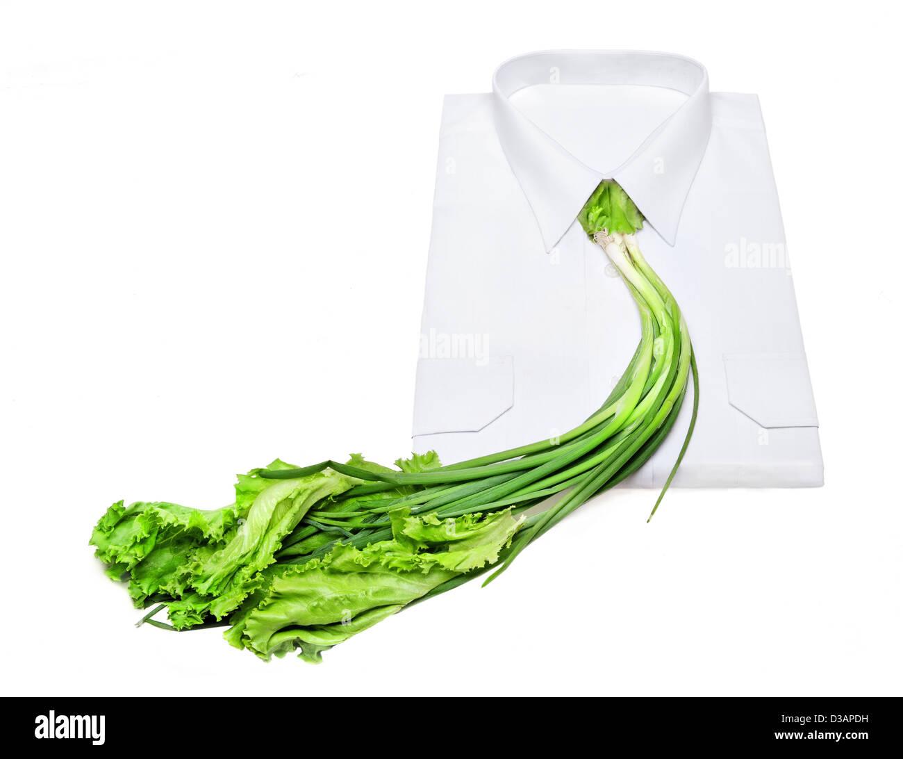 Vegetarian necktie - Stock Image