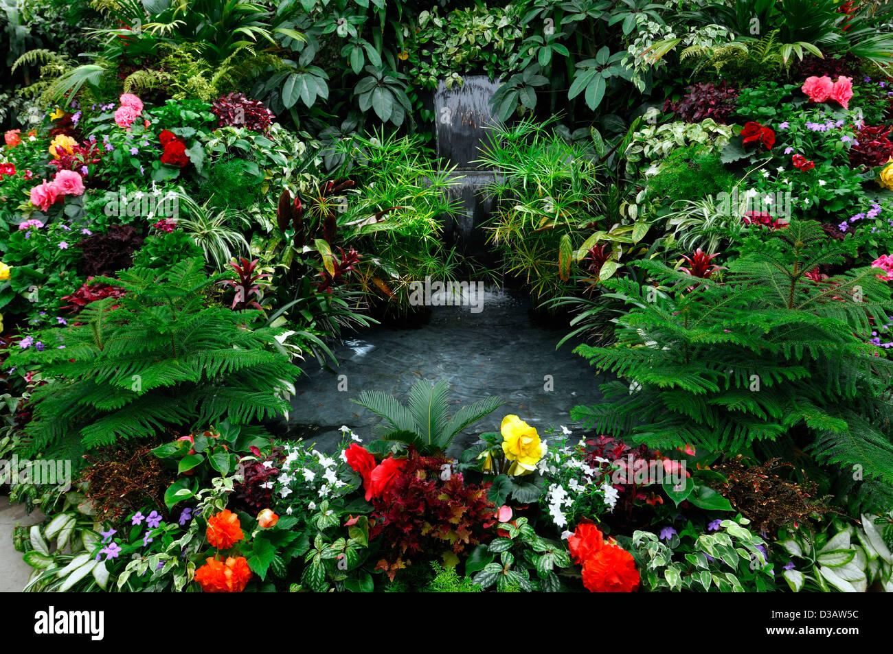 butchart gardens victoria vancouver island stock photos & butchart