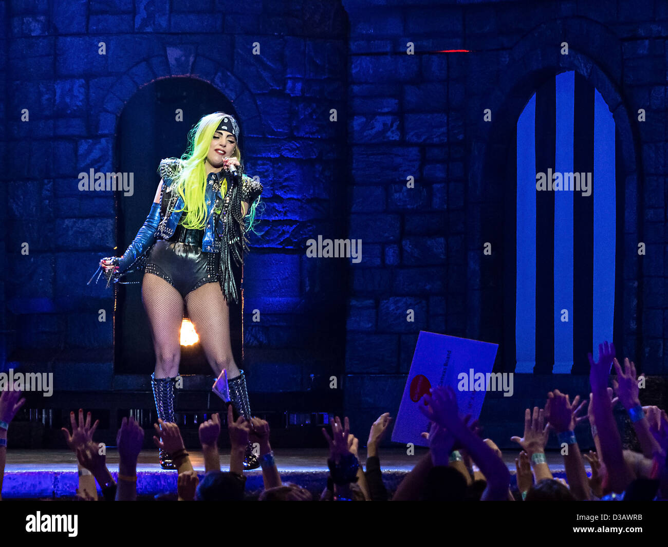 American singer Lady Gaga performs during her Born This Way