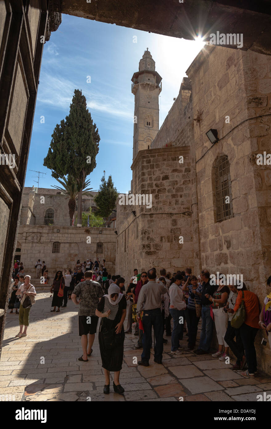 Church of Holy Sepulchre in Jerusalem, Israel - Stock Image