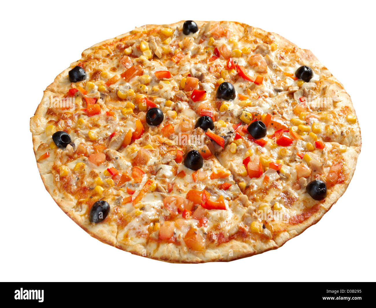 Pizza vegetarian. italian kitchen. Studio - Stock Image