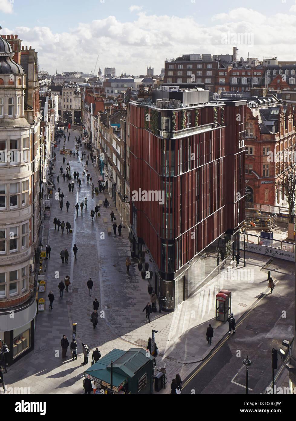 28 South Molton Street, London, United Kingdom. Architect: DSDHA, 2012. - Stock Image