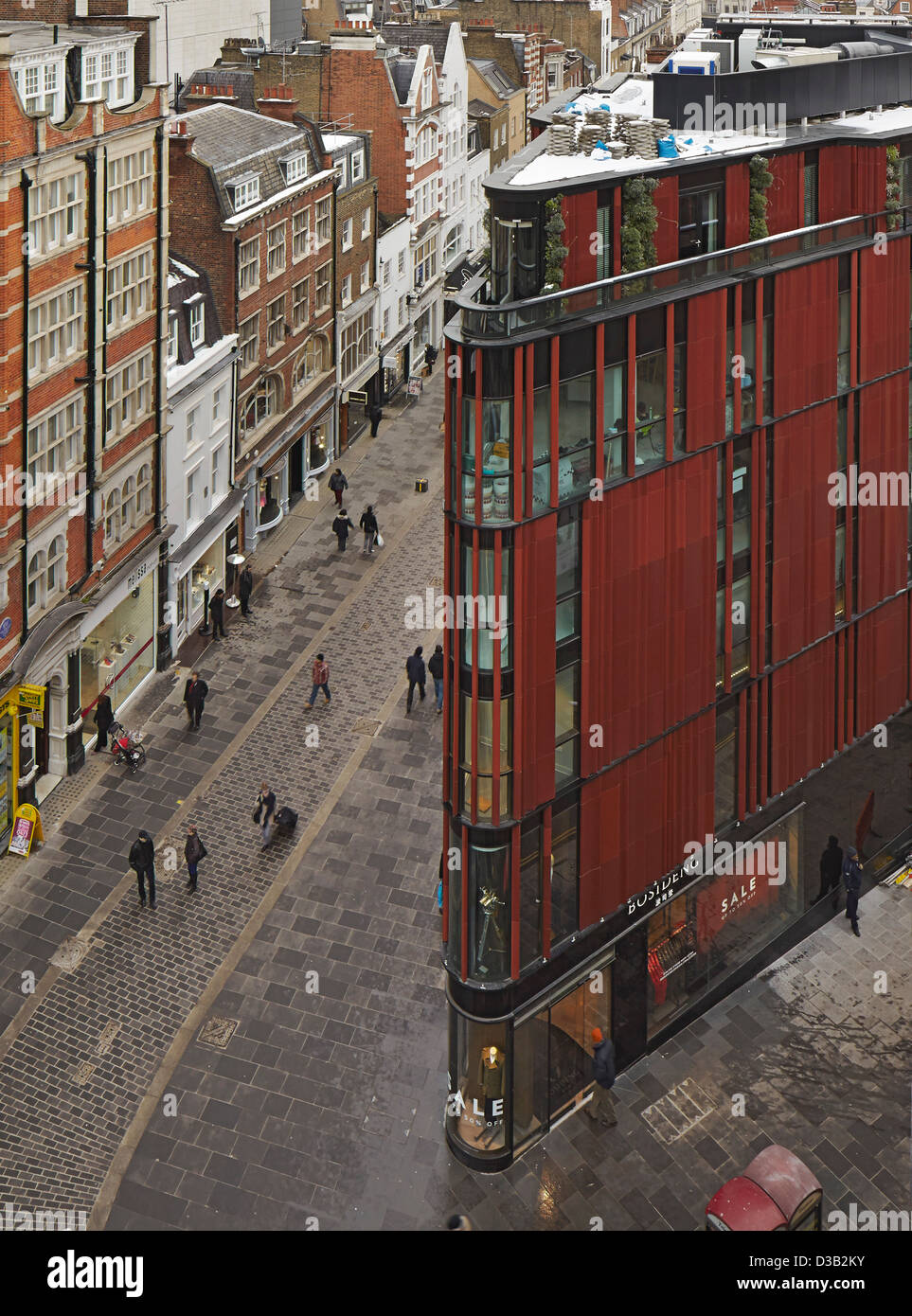 28 South Molton Street, London, United Kingdom. Architect: DSDHA, 2012. - Stock Image