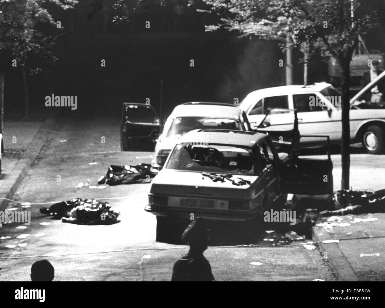 dpa files) - A general view of the site of crime where Hanns ...