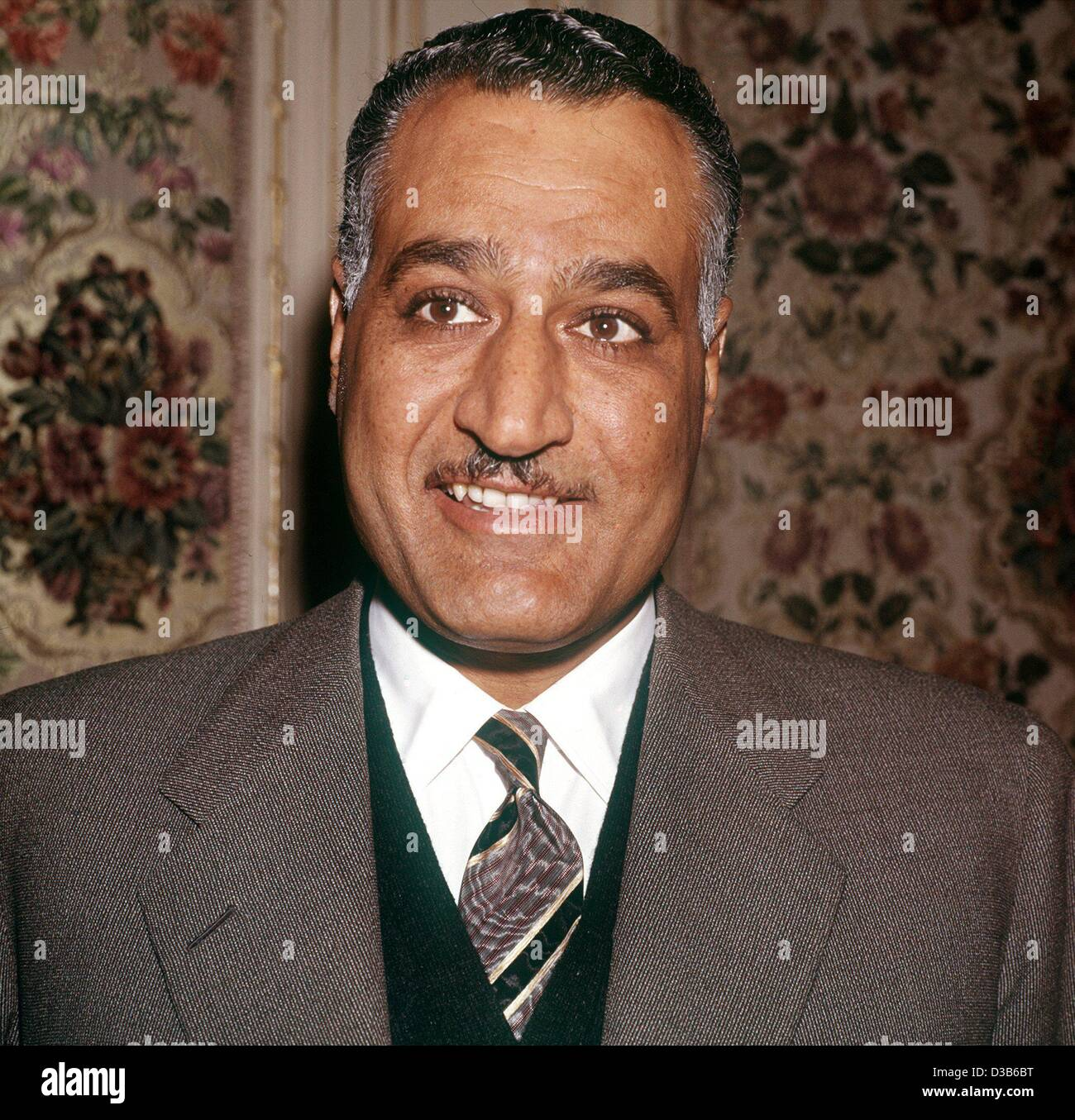 (dpa files) - An undated filer shows Egyptian Officer, politician and President Gamal Abdel Nasser (1918-1970). - Stock Image