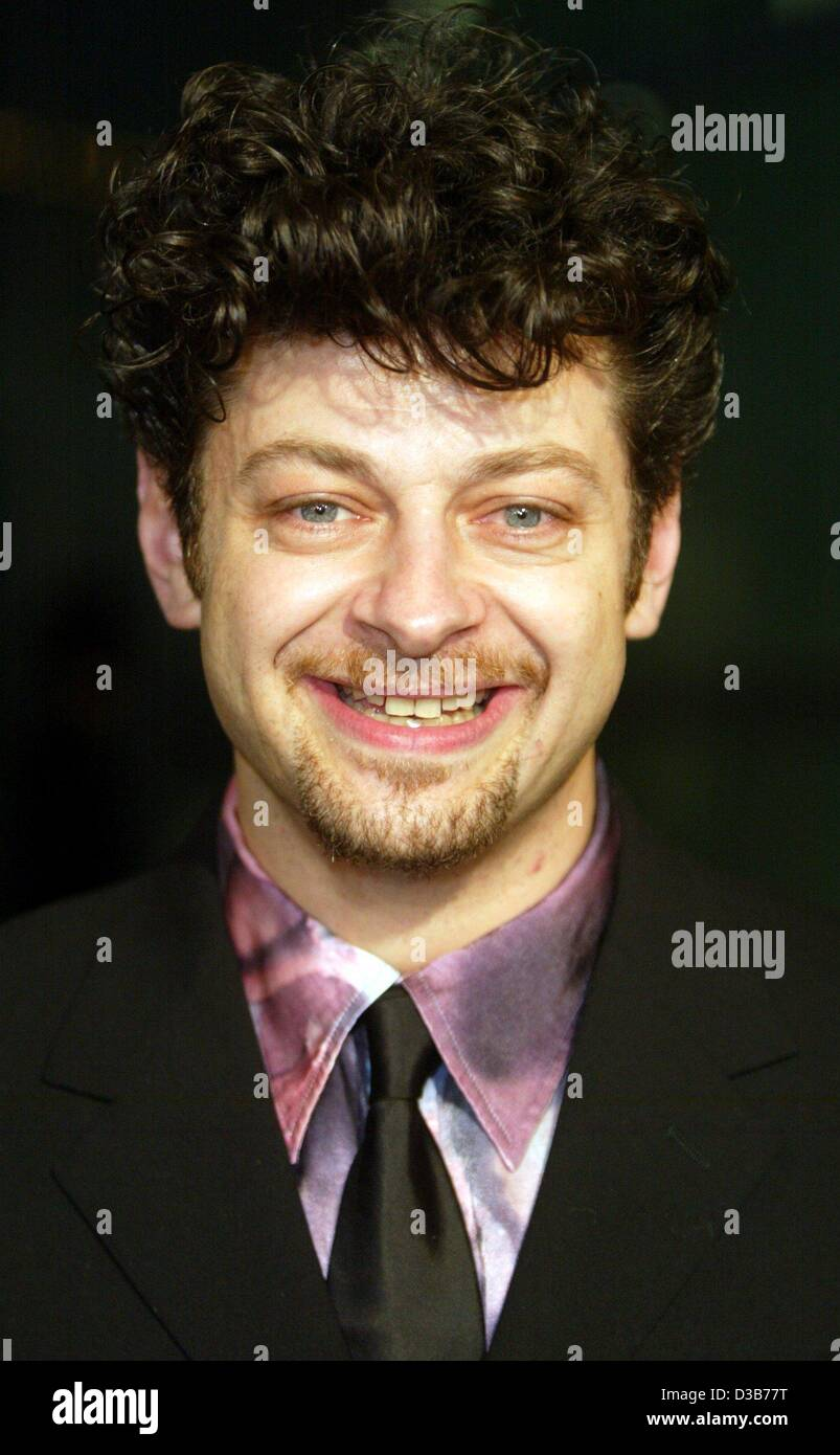 (dpa) - British actor Andy Serkis arrives for the premiere of the movie 'Lord of the Rings: The Two Towers' - Stock Image