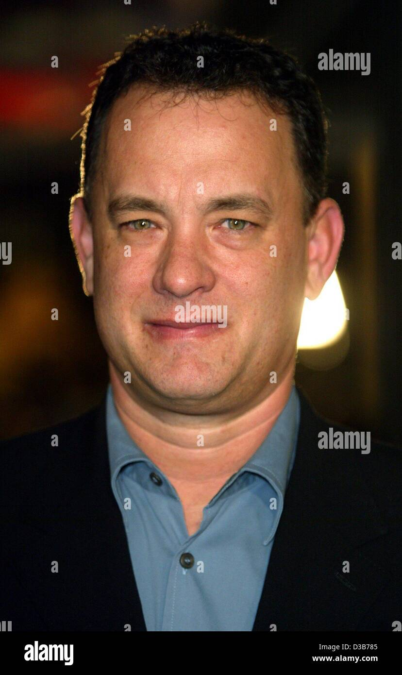 (dpa) - Hollywood star Tom Hanks, who plays Carl Hanratty in 'Catch Me If You Can', pictured ahead of the - Stock Image