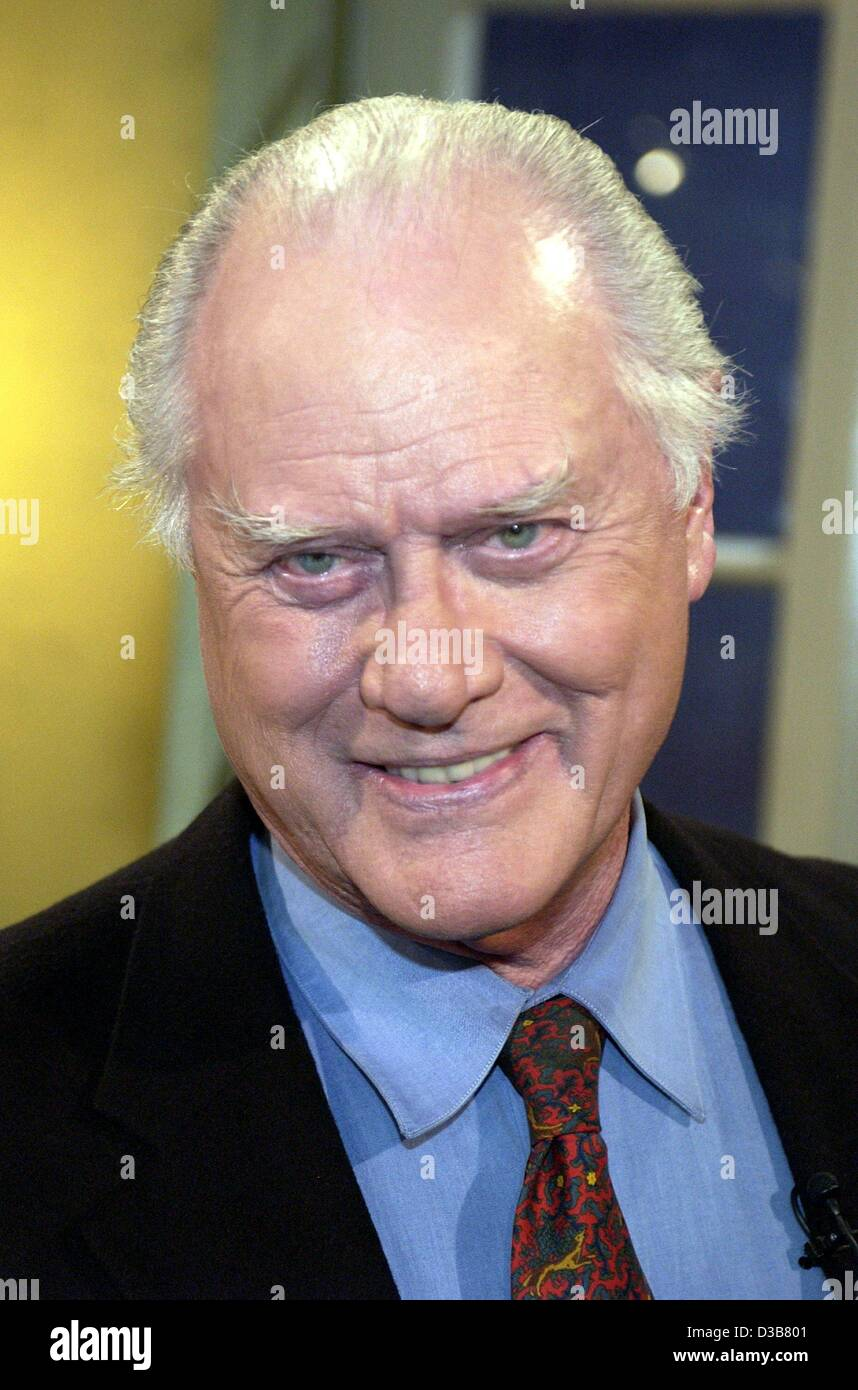 (dpa) - US actor Larry Hagman, who played the evil J.R. in the US TV series 'Dallas', pictured during the - Stock Image