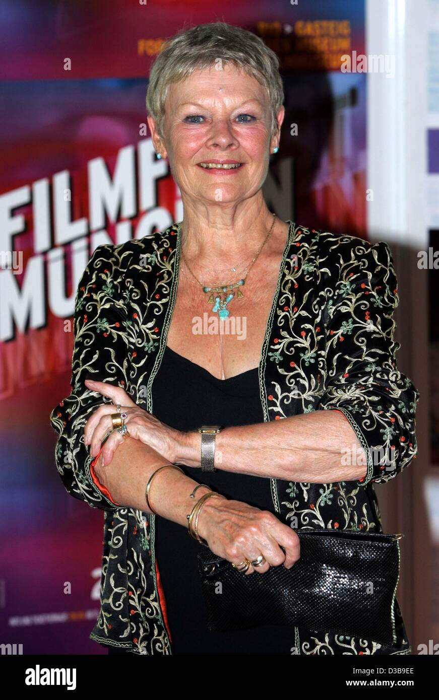 (dpa) - The British actress Judi Dench is pictured during a gala screening of her movie 'Ladies in Lavender' in Stock Photo