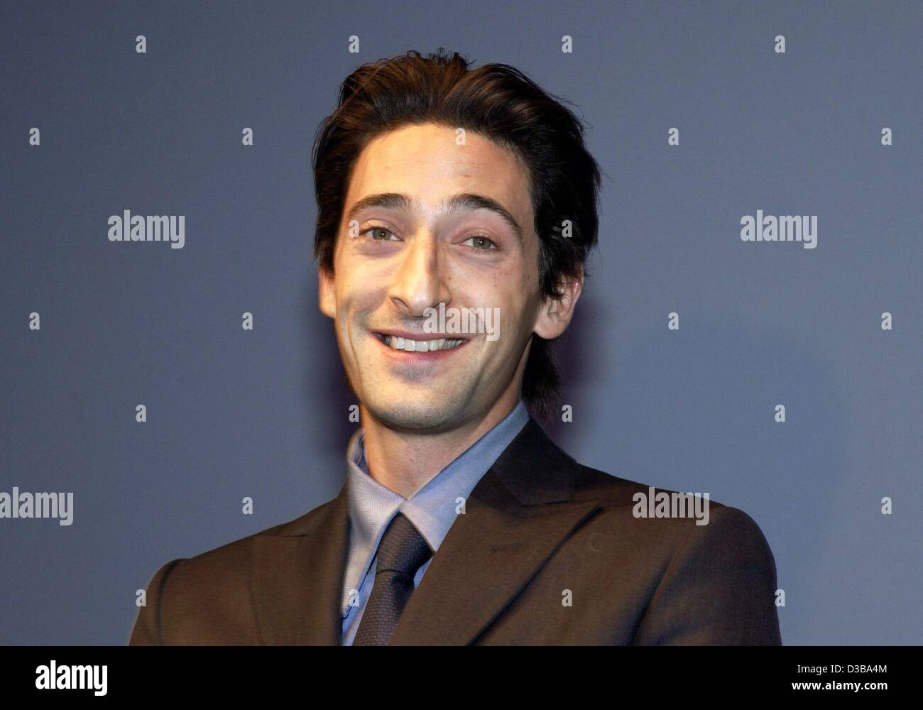 (dpa) - US actor Adrien Brody presents his new film 'The Pianist' which premieres in Berlin, 21 October - Stock Image