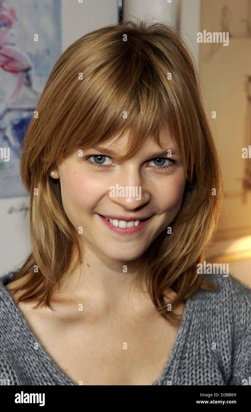 (dpa) - French actress Clemence Poesy pictured during the shooting of her film 'Olgas Sommer' (Olga's - Stock Image