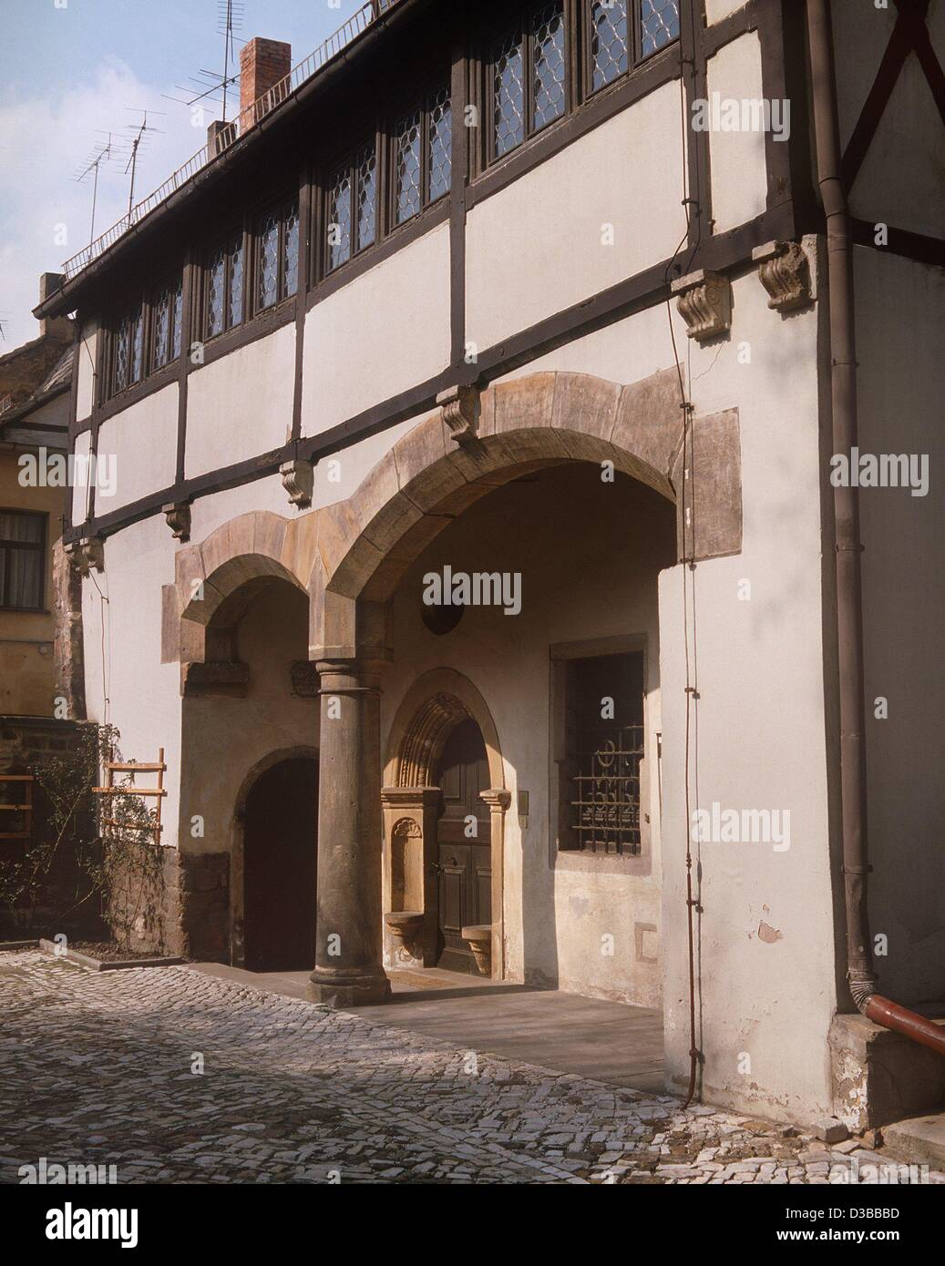 (dpa files) - The birthplace of the German reformer Martin Luther  (1483-1546) in the Luther Street 16 in Eisleben, - Stock Image