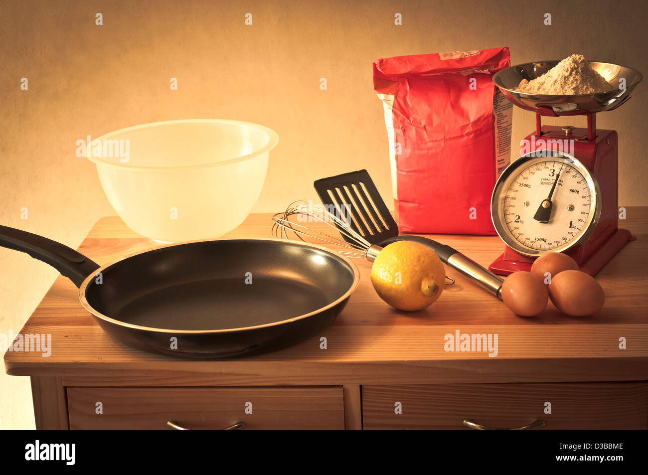 Retro baking Stock Photo
