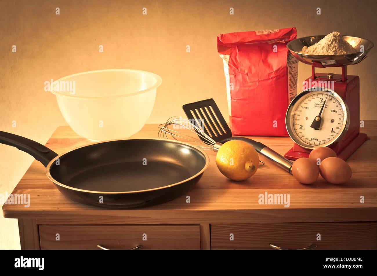 Retro baking - Stock Image