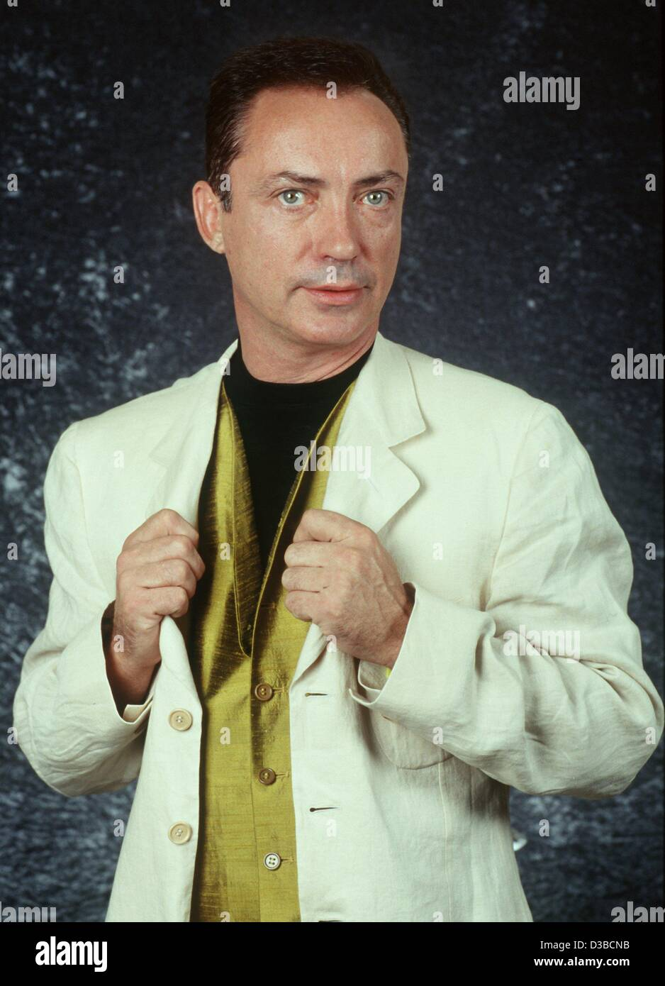 (dpa files) - German actor Udo Kier ('Armageddon', 'End of Days') poses in Mainz, Germany, August - Stock Image